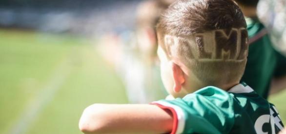O garotinho vê o Palmeiras campeão brasileiro pela primeira vez em sua vida