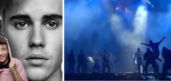 Sem entender nada, Justin Bieber ficou só assistindo o brasileiro apanhar e ser expulso pelos seguranças