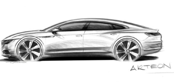 Volkswagen Arteon: fortes vincos nas laterais e visual imponente