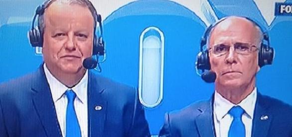 Deva Pascovicci e Mario Sérgio estavam no avião do Chapecoense (Foto: Fox)