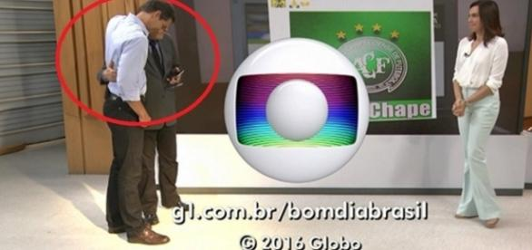 Lacombe é amparado no 'Bom Dia Brasil' - Imagem/Google
