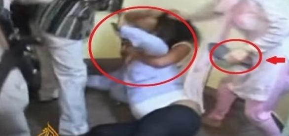 Mulher traída e familiares batem no marido e na amante (Foto: Youtube/Reprodução)
