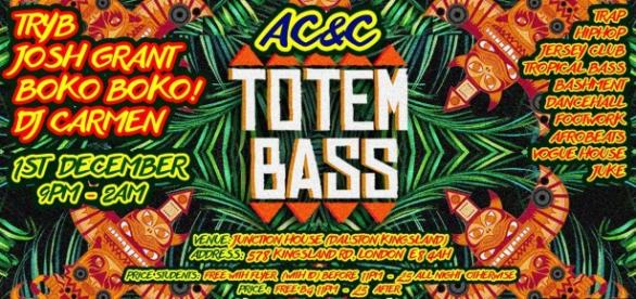 The Totem Bass/ AC&C offical flyer