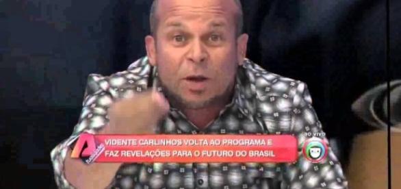 Vidente faz previsões na televisão - Foto/Reprodução