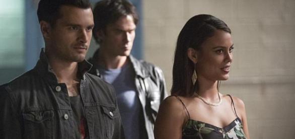 Divulgação: The Cw - Enzo, Damon, Sybil.