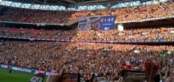 Happier times for Hull City this summer. Photo credit: Daisy Young