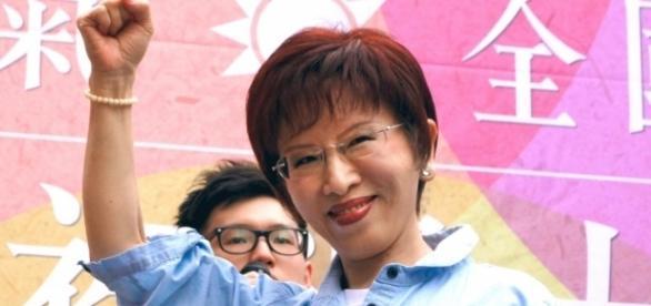 Hung Hsiu-chu, la leader del Partito nazionalista taiwanese ora all'opposizione