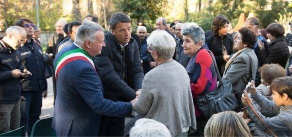 Il premier Renzi in visita nei luoghi del terremoto nel Centro Italia
