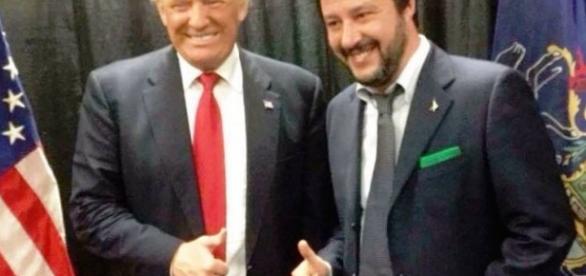 La destra italiana saluta con entusiasmo l'elezione di Trump, in primis Salvini.
