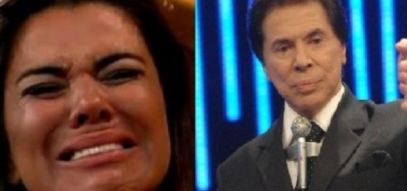 Mara Maravilha e Silvio Santos - Foto/Montagem