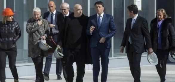 Matteo Renzi visita il cantiere della 'Nuvola' all'Eur   LaPresse - lapresse.it