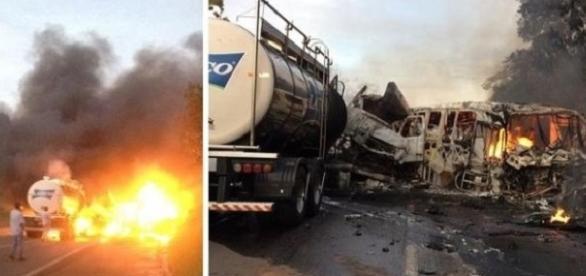 O acidente aconteceu por volta das 6h da manhã, no km 329 da Rodovia PR-323