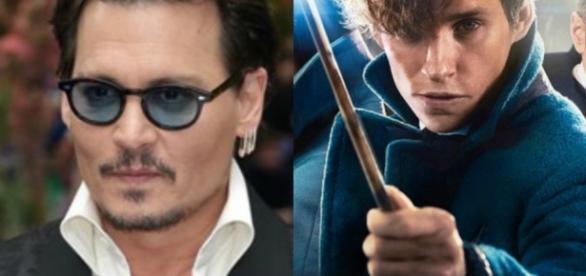 Os atores Johnny Depp e Eddie Redmayne