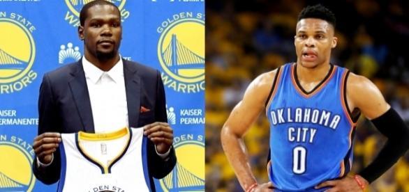 Se verán las caras por primera vez Kevin Durant y Russell Westbrook tras su fichaje por Golden State