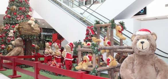 Decoração de Natal do Shopping Metrô Itaquera.