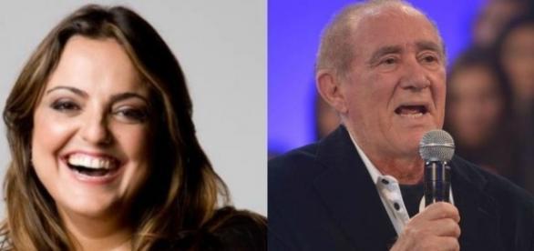 Fabiola Reipert e Renato Aragão / Imagens: Reprodução