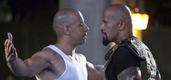 """Vin Diesel e Dwayne Johnson astros de """"Velozes e Furiosos 8"""""""