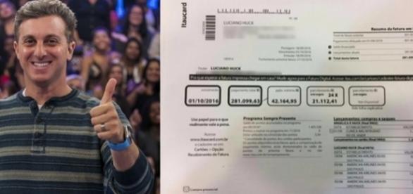 A fatura do cartão de crédito de Luciano Huck se tornou alvo de muitas discussões