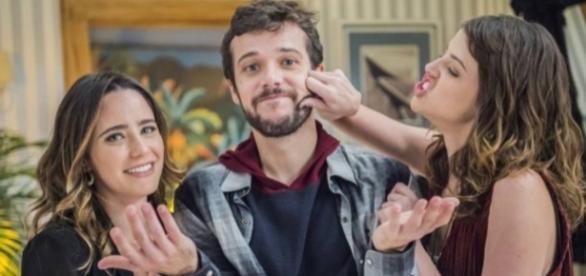 Bruna, Giovanni e Camila em Haja Coração