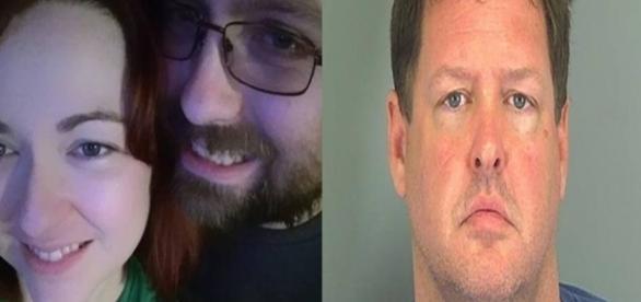 Na primeira imagem a jovem encontrada e seu namorado que também está desaparecido, e na segunda foto o homem que foi preso por suspeita de sequestro.