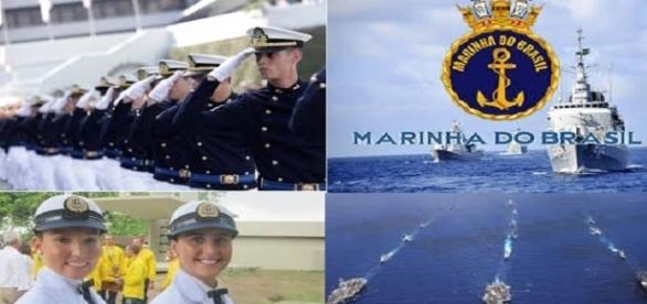 Concurso aberto para a Marinha do Brasil.
