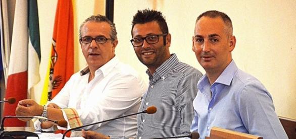I consiglieri Ferrero, Pintaldi e Rosa.