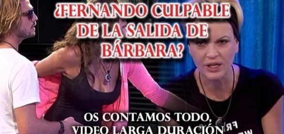 Se culpa a Fernando por la salida de Bárbara
