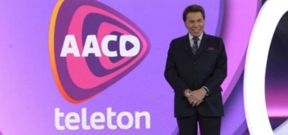 Silvio Santos durante o Teleton
