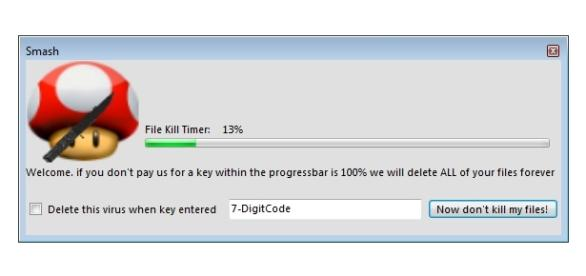 Smash Ransomware File Kill Timer screenshot