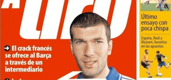Zidane, una más de las portadas fallidas