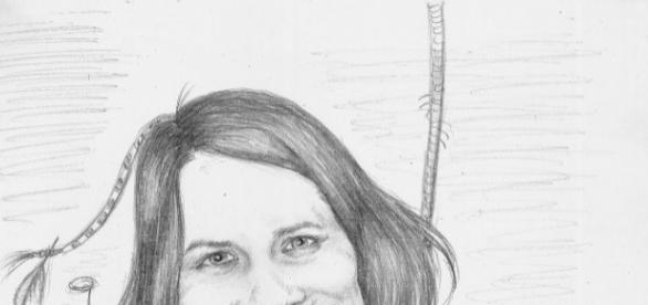 Caricatura Sabinei Laiber realizata de Madalina Vasile
