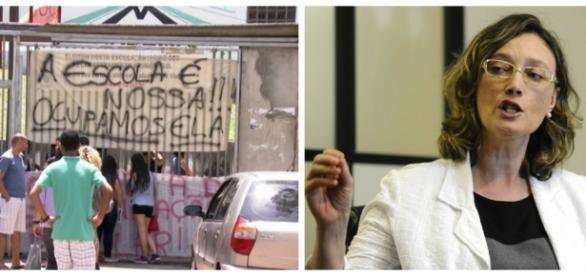 Maria do Rosário apoia a ocupação das escolas (Foto: Reprodução)