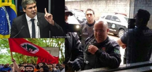 Senador criticou a polícia (Fotos: Senado/Sérgio Silva/Ponte Jornalismo)