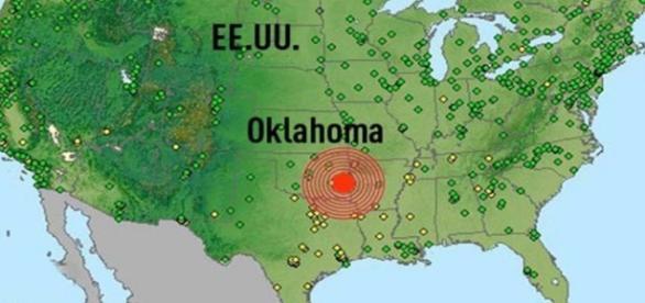 A terra treme em Oklahoma, Estados Unidos e população fica assustada