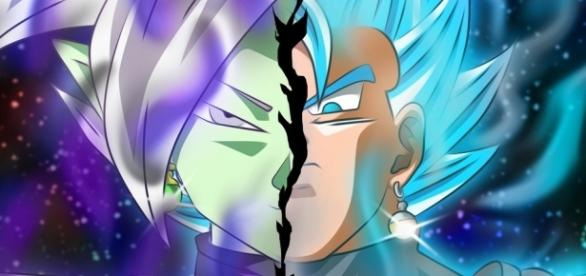 Fan-Art de Zamasu y Vegetto en fase dios azul