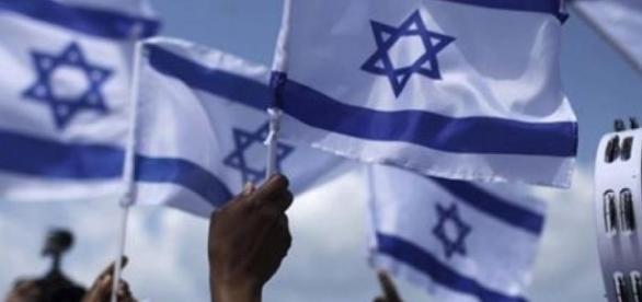 Fotografía de banderas de Israel.