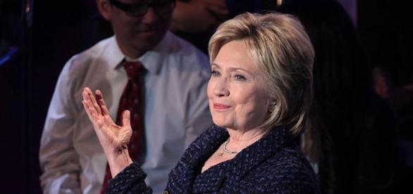 Hillary Clinton durante un comizio della campagna elettorale 2016