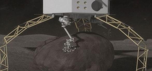 NASA libera maquete do artefato que também poderá recolher material do asteroide (NASA)