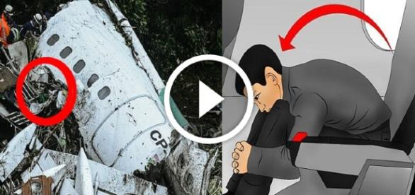 posición que te salvaría la vida en un accidente de avión (lamia chapecoense)