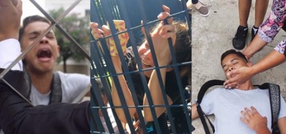 Veja vídeos de pessoas que foram flagradas chegando atrasado no Enem