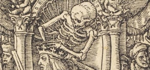 """Detail of Hans Holbein's """"Danse Macabre"""" dodedans.com Creative Commons"""