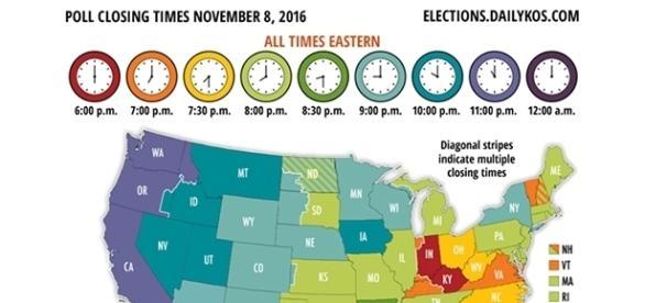Elezioni USA 2016, chiusura dei seggi