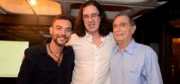 Esdras Bedai, Geraldo Carneiro e Jorge Mautner (Foto: Divulgação)