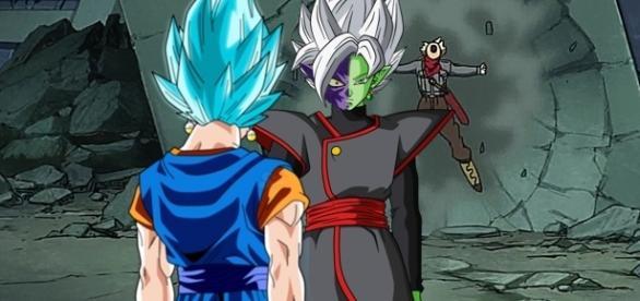 imagen referencial del combate entre ambas fusiones