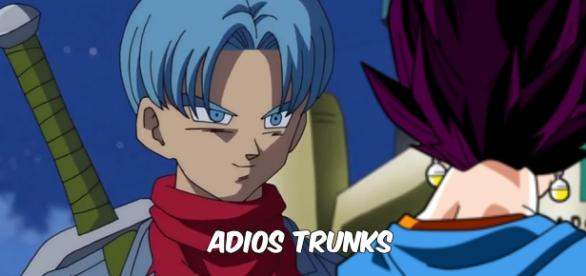 La despedida entre Vegetto y Trunks