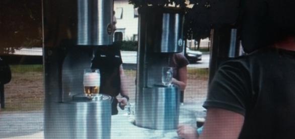 Por 6 euros, pode-se beber cinco tipos de cerveja.