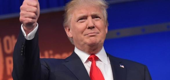 Trump em discurso após a divulgação do resultado.