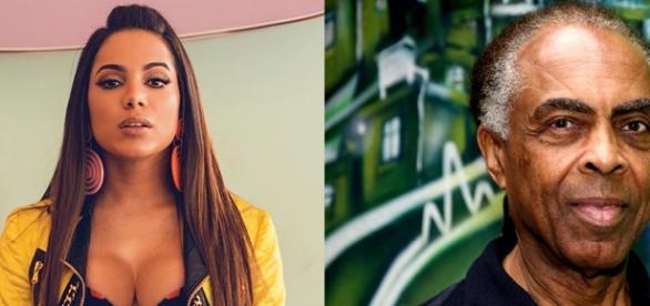 Anitta e Gilberto Gil já sofreram com problemas na voz