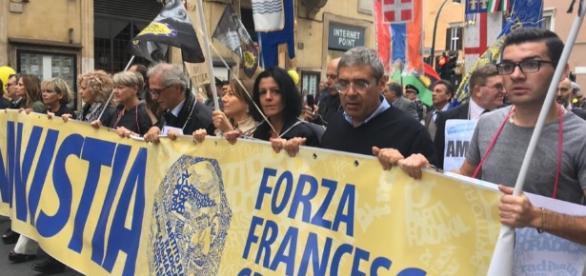 Marcia per amnistia e indulto, Cuffaro in prima fila