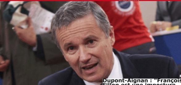 Dans un entretien avec Marianne, Dupont-Aignan fustige François Fillon, dit Fifi mains d'acier. Pour cause. Fifi piquera des voix à Gnangan